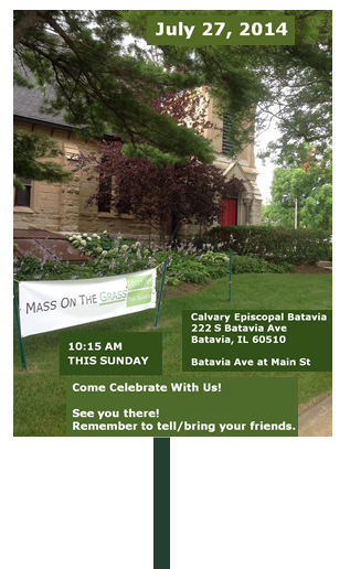 Virtual Yard Sign-Mass on the Grass Celebration-July 27, 2014